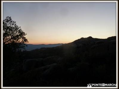 Peñaliendre y Canto Hastial a la Luz de la Luna;rutas monasterio de piedra rutas trekking madrid